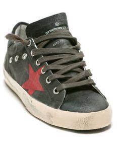 ShopStyle: Golden Goose Superstar Sneakers Black/Red