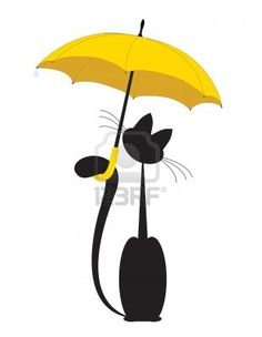 Cat in umbrella