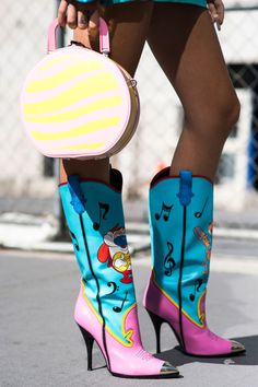 Fashion Month showed us just how many pairs of shoes we actually needed- including these amazing heeled cowboy boots