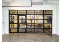 GlassPassingDoor - Full View Aluminum Glass Garage Door with Passing Door - Garage&Roll Up