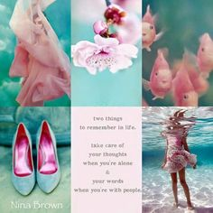 Pink, two things to remember in life: take care of your thoughts when you're alone & your words when you're with people. Word Collage, Color Collage, Beautiful Collage, Beautiful Words, Beautiful Poetry, Color Trends, Color Combos, Collages, Mood Colors
