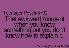 I HATE that..