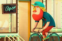 Take Your Bike and Go on Behance