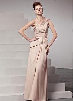 In Stock Charming Habijabi One Shoulder Neckline Floor-Length Sheath Formal Dress Prom Dresses