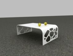 3D Max Contemporary Corian Solid Surface Coffee Table TW-PATB-108