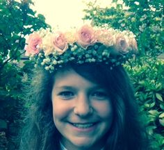 a garland head dress is beautiful for a bride or bridesmaid.