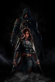 Assassins Creed like father like daughter by GingerJMEZ.deviantart.com on @DeviantArt
