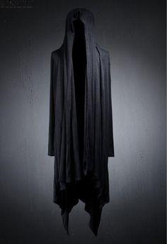 N20 Men loose black punk trench long hood cardigan poncho casual jacket outwear  #Unbranded #BasicCoat