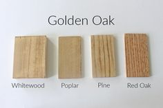 How 10 Different Stains Look on Different Pieces of Wood - Within the Grove Diy Wood Stain, Stain On Pine, Oak Stain, Minwax Stain Colors, Oak Floor Stains, Bleached Wood, Staining Cabinets, Different Types Of Wood, Floor Colors