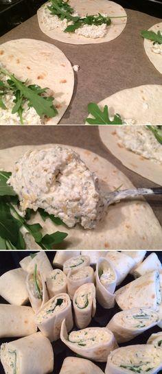 Mega lekkere vega wraps Tasty Vegetarian, Vegetarian Wraps, Tapas, Lunch Wraps, Cold Meals, Fun Cooking, High Tea, Organic Recipes, Veggie Recipes