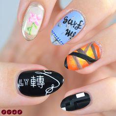 Uñas de bts fake love creado por not your average nails nail K Pop Nails, Love Nails, Korea Nail Art, Army Nails, Bts Makeup, Cool Makeup Looks, Korean Nails, Cute Nail Designs, Nail Arts