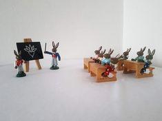 Living In Europe, Easter Bunny, German, Miniatures, Etsy Shop, School, Check, Vintage, Deutsch