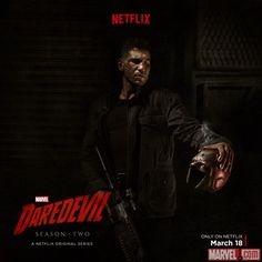 We're getting closer and closer to the premiere of Daredevil season two, and Marvel has today released a new poster featuring Frank Castle/The Punisher along with an interview with Jon Bernthal. Daredevil Punisher, Marvel's Daredevil, Netflix Daredevil, Daredevil Series, Series Da Marvel, Marvel Films, Netflix Marvel, Penny Dreadful, Daredevil Season 2 Poster