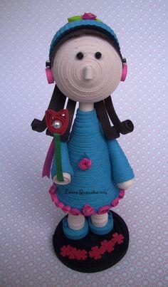 3D quilling paper. Laura González.https://www.facebook.com/pages/%C3%81ngeles-y-m%C3%A1s/710244635663328