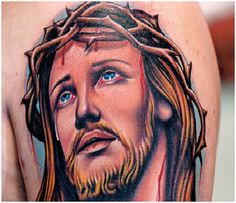 Jesus tattoos can be very meaningful to men and women that wear this tattoo. Learn about Jesus tattoo designs, Jesus tattoo meanings, and Jesus tattoo ideas. View tattoo pictures and more. Tattoo Designs And Meanings, Tattoos With Meaning, Tattoo Designs Men, Tattoo Meanings, Weird Tattoos, Tattoos For Guys, Tatoos, Poker Tattoos, 3d Tattoos