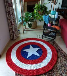 Crochet Gifts, Cute Crochet, Crochet For Kids, Crochet Baby, Knit Crochet, Crochet Rug Patterns, Weaving Patterns, Carpets For Kids, Knit Rug