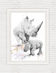Neutral Nursery Decor Safari Art Set of 6 Prints Mother And Baby Watercolor Painting Boy Girl Animals Gray Wall art Watercolour Print  Set of 6 prints -   high quality fine art prints of my original watercolor painting. It is the work of a watercolor series Portraits of the Heart    Size paper: 14,8 × 21cm,5 4/5 × 8 1/4, A5 (with white borders) - 36.00 $  21 cm x 29,7 cm, 8 1/4 x 11.5/8, A4.(with white borders) - 68.00 $  29,7cm × 42cm, 11,69 × 16,54, A3(with white borders) - 122.00 $…