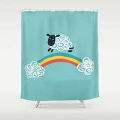 One Happy Cloud Shower Curtain by Budi Satria Kwan - $68.00