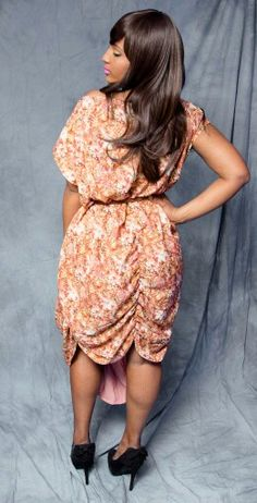 Long front lin dress