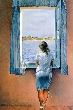 """""""@emanuelaneri14: Io ho quel che ho donato~ #DAnnunzio #Dali 'La ragazza alla finestra' #DonneInArte #DonneAlBalcone """""""