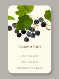{Black Currant} Personal Calling Card - The art of staying connected