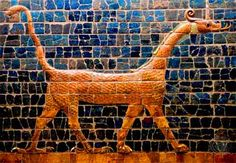 The Dragon of Marduk, an important symbol to the ancient Babylonians, from the Ishtar gate