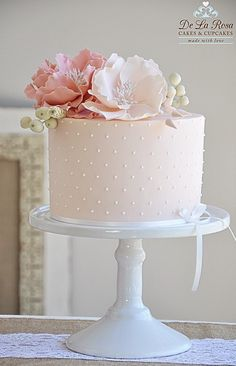Beautiful pink special occasion cake