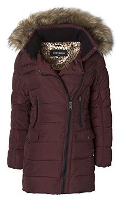 Steve Madden Women's Quilted Puffer Jacket Coat with Faux Fur Trimmed Hood  Thick down alternative fillingDetachable hood with removable faux fur trimRib knit lined neck for maximum warmth and protection  http://good-deals-today.com/product/steve-madden-womens-quilted-puffer-jacket-coat-with-faux-fur-trimmed-hood/