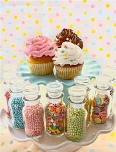 Easter Cupcakes-easter Sprinkles-sprinkle Rack-Spice Rack-pastel sprinkles-cookie sprinkles-jars of sprinkles-spice jars-. $59.95, via Etsy.