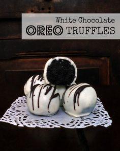 White Chocolate Oreo Truffles | SpecialtyCakeCreations.com