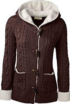 Cabelas cozy fleece and knit sweater coat