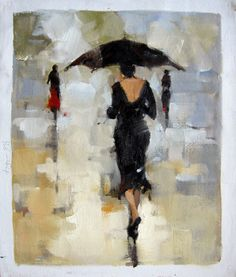 by - City Life - - Girl with Umbrella - Museum Quality Oil Painting on Canvas Art by Artseasy on Etsy Oil Painting On Canvas, Canvas Art, Umbrella Painting, Illustrations, City Life, Contemporary Artists, China Buy, Original Art, Photos