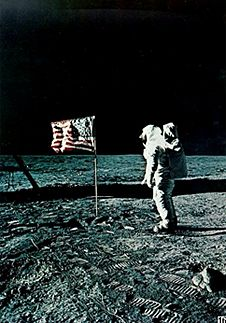 """""""That's one small step for a man, one giant leap for mankind"""" July 20 Neil A. Armstrong - the first man on the moon Buzz Aldrin, One Small Step, I Love America, Neil Armstrong, Man On The Moon, Beyond Words, Nasa, American Flag, Science Fiction"""