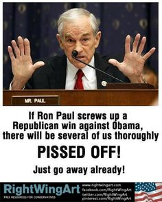 Ron Paul needs to act right now....yes pleeeeease dont waste your vote here vote for MITT and then we at least have a chance to have ENOUGH votes for MITT and it will be someone else besides Obummer in OUR white house!
