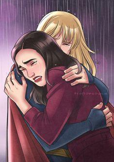 SwanQueen/SuperCorp Meet-Cute by NikiFrost on DeviantArt Kara Danvers Supergirl, Supergirl Comic, Cute Lesbian Couples, Lesbian Art, Superhero Tv Series, Lexa Y Clarke, Captain Marvel Carol Danvers, Cw Dc, Best Friend Drawings
