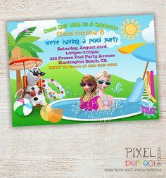 Frozen SUMMER Birthday Invitation Frozen by PixelPerfectShoppe