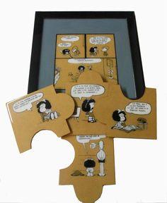 Set de posavasos mas azafate de Mafalda