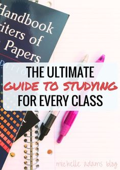 College Girl's Ultimate Guide to Studying!   Michelle Adams Blog for tests exams study books photo flatlay student girl math english essays science music mathematics major college major study tips studytips
