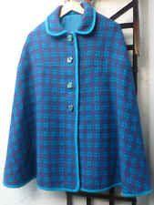 Ladies 60s Vintage Welsh Wool Cape Luxury Mod Chest Small- Medium
