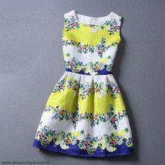 Vestido Estampado Floral - Vestidos   DMS Boutique