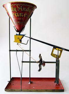 1917 Sandy Andy Crane No. 104 Tin Litho Sand Toy