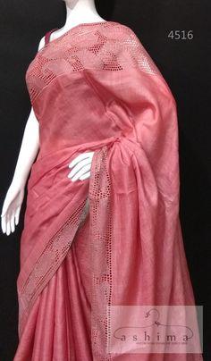 Salwar Neck Designs, Blouse Designs, Cutwork Saree, Saree Floral, Silk Saree Kanchipuram, Work Sarees, Cut Work, Fancy Sarees, Beautiful Saree