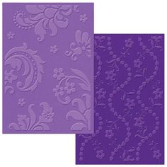 Textured Impressions Embossing Folders - Damask & Beaded Floral Stripe