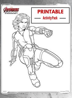 Printable activity pack for #Marvel's #AVENGERS: #AgeOfUltron with 15 coloring pages including Black Widow, Captain America, Hawkeye, The Hulk, Iron Man, Thor, Nick Fury, Scarlet Witch, Quicksilver, Ultron, and more.