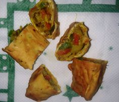 How to Make Indian veg Papad Roll