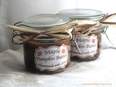 Bespangled Jewelry: Homemade Maple Pumpkin Butter Recipe (with free printable labels)