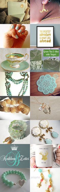 mint and gold by Lyndsee Faulkenberry on Etsy--Pinned with TreasuryPin.com