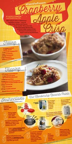 Perfect Healthy Holiday Dessert! Cranberry Apple Crisp @Janet Russell-Snider Express #PointsforPresents #Spon