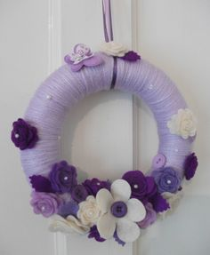 Purple , Cream & Lilac Wreath (Mothers Day Gift)