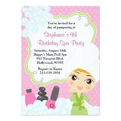 Girls Spa Party Invitation Wording Party Invitations This Adorable